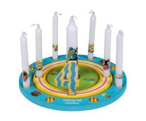 """TIB Heyne Holz-Geburtstagsringe """"Happy Birthday"""", 3-tlg.,1 Set"""