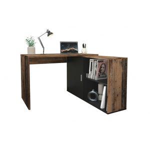 Schreibtisch Winkelschreibtisch Bürotisch Arbeitstisch Home Office ca. 119 x  124 cm VALLEY Old Style