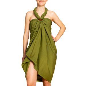 PANASIAM Sarong unicolor, Farbe/Design:olive, Größe:190x116cm