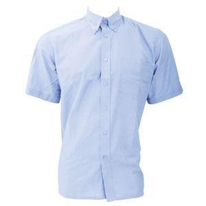Dickies Oxford Hemd für Männer, kurzarm BC297 (Kragenweite 50 cm) (Hellblau)