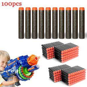 LARS360 Refill Darts Soft Refill Darts 100 Stück Soft Bullets Darts Fluoreszenz Schwarz