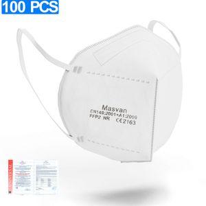FFP2 Maske Atemschutzmask,  Gesichtsmaske, 5 Schichten Mundschutz Maske (100 Stück)