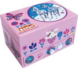 Scout Kinder Schmuckkästchen mit Spieluhr Mädchen Pink 210000001