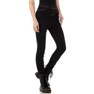 Ital-Design Damen Jeans High Waist Jeans Schwarz Gr.26