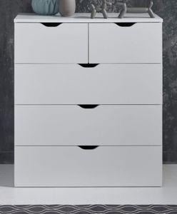 Kommode in weiß Basix Anrichte 80 x 101 cm Sideboard Schubkastenkommode