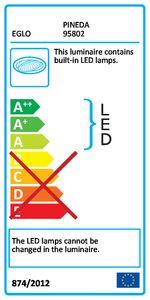 EGLO PINEDA LED Einbauspot 3er-Set, 78x78, Starr, 3-flg., chrom,LED Platine,A+,95802