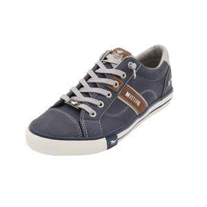MUSTANG SHOES Unisex Kinder Sneaker Halbschuhe Schnürsenkel, Blau (800 dunkelblau) 37
