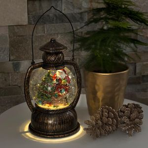 """Konstsmide - LED Kugellaterne """"Weihnachtsmann"""", wassergefüllt, warm weiß, batteriebetrieben, Innen, ; 3497-000"""