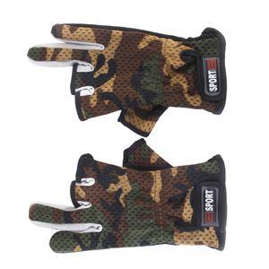 1Paar Herren Neopren Handschuhe Anti-Slip 3 Fingern Anglerhandschuhe