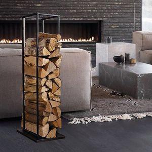 Kaminholzständer aus Stahl schwarz Kaminholzregal Brennholzregal Holzständer