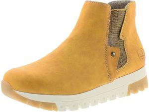 Rieker Damen Chelsea Boots Stiefeletten Plateau Z2961-69, Größe:40 EU, Farbe:Gelb