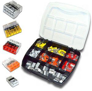 Wago Sortimentsbox mit 110 Stück WAGO Klemmen   Serie 2273   Box Set Verbindungsklemme