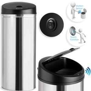 Kesser® Automatik Sensor Mülleimer Abfalleimer Abfall EDELSTAHL Papierkorb, Liter:30 Liter, Farbe:30 Liter SILBER