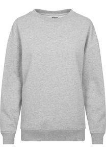 Urban Classics Damen Sweatshirt Oversize Crewneck TB1847 Grau Grey M