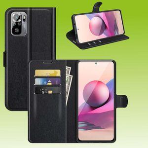 Für Xiaomi Redmi Note 10 Pro Handy Tasche Wallet Premium Schwarz Schutz Hülle Case Cover Etuis Neu Zubehör