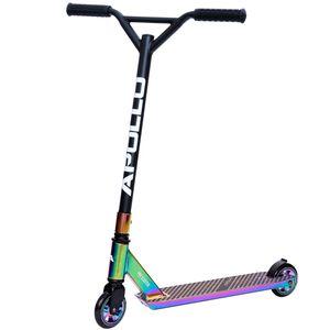 "Apollo Stunt Scooter ""Graffiti Pro 4.0"" Kickscooter mit 100mm PolyurethanWheels Funscooter mit ABEC 9 - Rainbow"