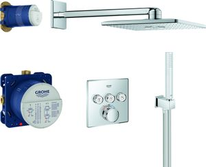 Grohe UP-Duschsystem GROHTHERM SMARTCONTROL eckig, 3 Absperrventile chrom