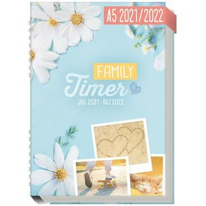 Häfft Family-Timer 2021/2022 Good Times / A5+ / 18 Monate