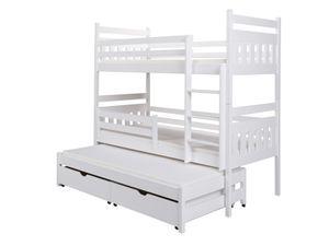 Etagenbett Bett BELKA XL Kiefer Massiv inkl.Rollrost und Gästebett