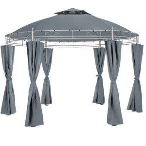 tectake Gartenpavillon Siana Ø 350 cm - anthrazit