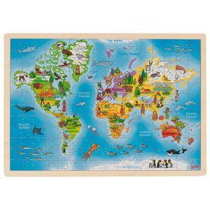 Einlegepuzzle Welt, per St