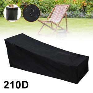 Gartenliege Abdeckung, Sonnenliege Liegestuhl Abdeckung Wasserdicht, Winddicht UV-Beständiges, Gewebe Schutzhülle für Sonnenliege, Liegestuhl, Deckchair