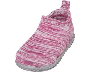 Playshoes Hausschuh Strick pink Mädchen 201901-18, Größe:22/23, Farbe Playshoes:pink