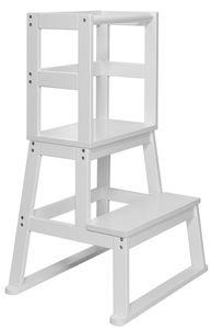BOMI® Learning Tower für Baby & Kleinkinder   Trittschemel Kinderschemel aus Holz   Kinderhocker & Tritthocker   Steherhöhung als Kindermöbel   Schemel für die Küche oder als Badhocker   Lernturm Lerntower Lernstuhl in Weiß