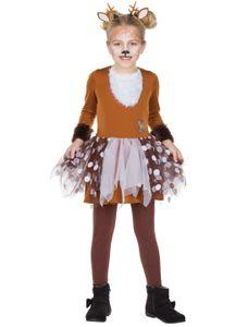 Kostüm Kleid Rehkitz Kinder Größe: 104