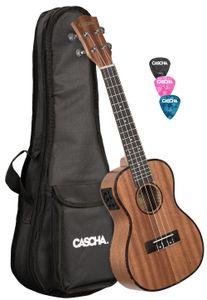 CASCHA HH 2035E Premium Mahagoni Konzert Ukulele