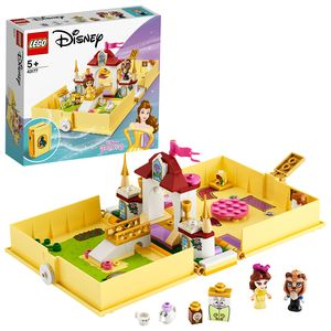 LEGO 43177 Disney Princess Belles Märchenbuch Abenteuer-Set, Schloss aus dem Film Die Schöne und das Biest, tragbares Spielset