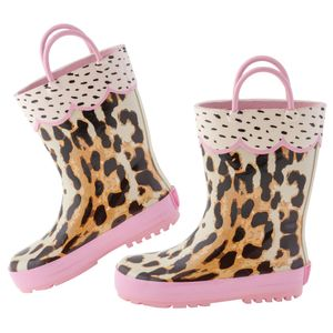 Stephen Joseph - Regenstiefel für Mädchen - Leopard - Multi/Rosa