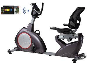 Sitzergometer magnetischer Widerstand Computer 24 Programme Sitz Liege-Heimtrainer Bluetooth Fitness App fähig
