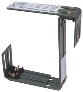Halter für Standard Balkonkasten zweifach verstellbar Blumenkastenhalter, Farbe:anthrazit