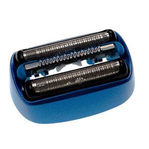 vhbw Rasierkopf kompatibel mit Braun CoolTec CT2CC, CT2S, CT3CC, CT4CC Elektrorasierer - Scherkopfkassette, schwarz/blau