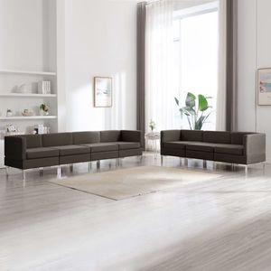 7-tlg. Sofagarnitur Stoff Taupe Wohnlandschaft-Sofa Relaxsofa für Wohnzimmer Schlafzimmer Esszimmer
