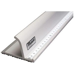 Victor Bar Schneidelineal aus Aluminium Profi-Ausführung rutschsicher 150cm Lineal