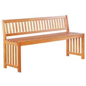 Gartenbank Parkbank Bank | Sitzbank Holzbank Gartenmöbel Sitzkomfort 137 cm Eukalyptus Massivholz | 6894