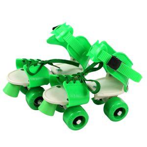 Rollschuhe Schuhe 4 Wheel Skating Einstellbare Größe für Kinder Jungen Mädchen CNJ200618172GN