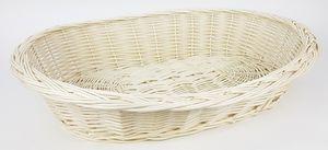 Weidenkorb mit Zopfrand Hundekorb aus Vollweide in Weiß 70 cm, Größe:ohne Kissen