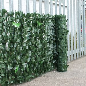 Sunnyme Blätterzaun (100 x 500 cm) Sichtschutz Balkon PVC Sichtschutz Balkonsichtschutz Efeu Blätter