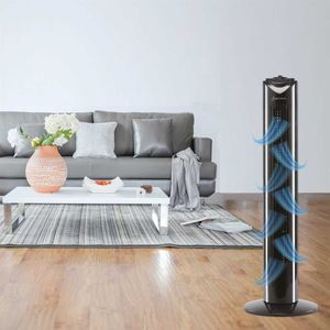 Turmventilator mit Oszilation ( Schwarz ) Extrem Leise - Standventilator 45W - Tower Fan 82 cm - Towerventilator mit 3 Geschwindigkeits Stufen