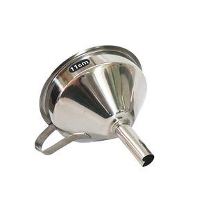 11-15cm Edelstahltrichter mit Sieb 11cm Silber 11 cm