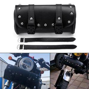 Universal Motorrad Satteltasche Werkzeugrolle Gepäckrolle Wasserdicht Schwarz □