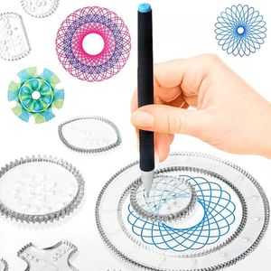 Spiral-Designer Zeichenbrett für Kinder, Zeichnen lernen für Kinder ab 6 Jahren, Kreatives Zeichen-Set für farbenfrohe Spiralbilder