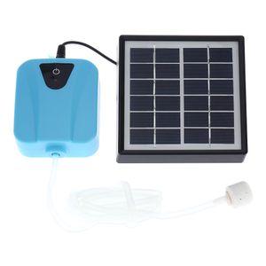 Solarbetriebene / DC Charging Oxygenator Wasser Sauerstoff-Pumpe Teichbeluefter mit 1 Ausstroemerstein Aquarium Luftpumpe 2L / min【3,7V / 3600mAh】Teichbelüfter
