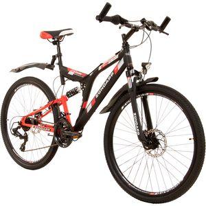 Zündapp Blue 5.0 26 Zoll Fully Mountainbike Full Suspension Rahmengrösse:47 cm, Farbe:schwarz/rot