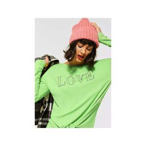 Shirt mit Steinchen-Deko, Größe:34, Farbe:22534|SUNNY LIME