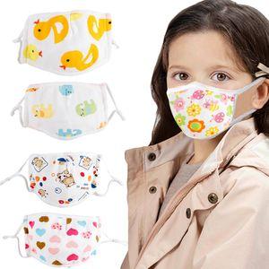 Kinder Baumwolle verstellbar 5 Schichten Anti Haze Staubdichte Mundmaske (Baby Kalb S)