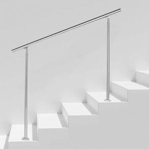 Treppengeländer Edelstahl Geländer 100cm ohne Querstäbe Handlauf Balkongeländer für Innen Außen